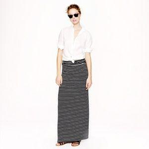 J. Crew Maxi Skirt in Stripe, XXS